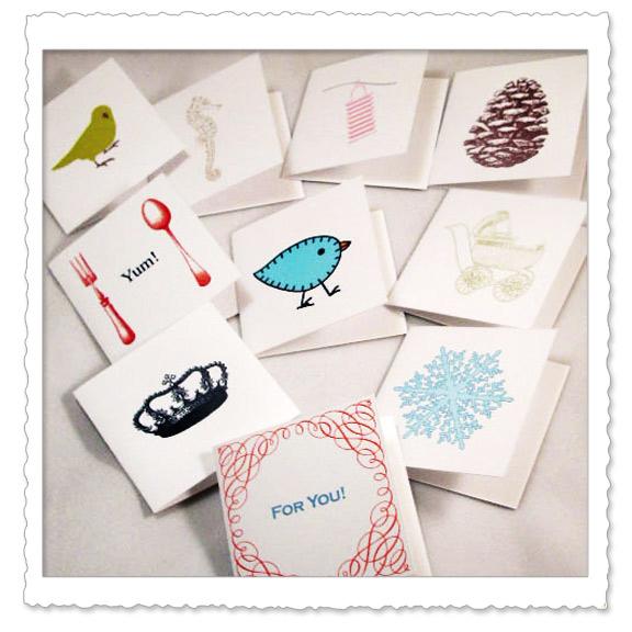 Стильные маленькие открытки
